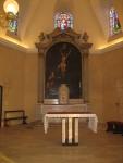Intérieur de l'église de Saint Maurice Val de Marne l'autel - photo Michèle Baugillot