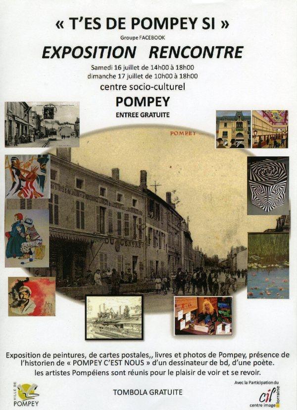 """""""T'es de Pompey si""""exposition rencontre 16 et 17 juillet"""